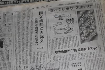 畳の下の新聞