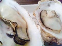神社で焼き牡蠣