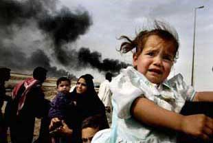 イラク・空爆に逃げ惑う子ども