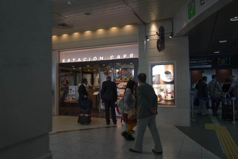 新神戸駅のカフェ