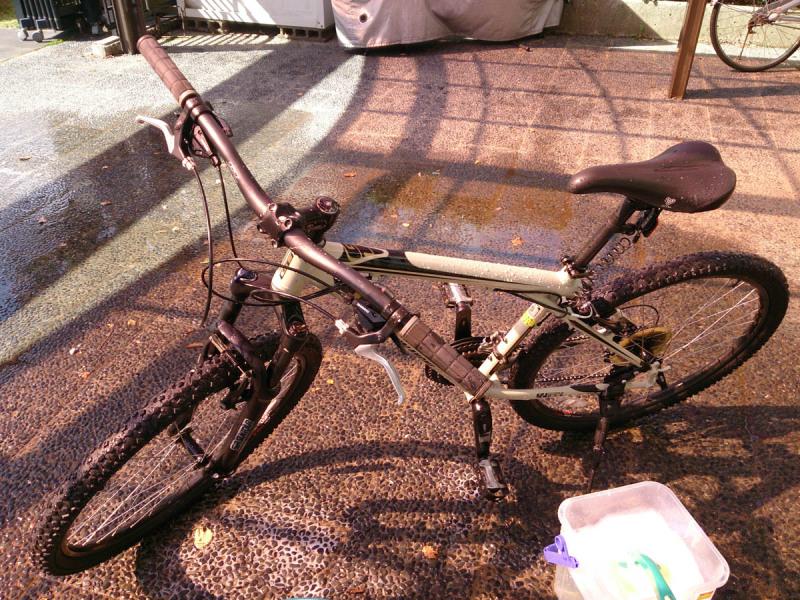 自転車を洗車しよう
