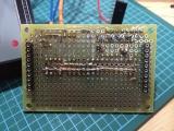 16セグ時計 試作基板(マイコンボード裏)
