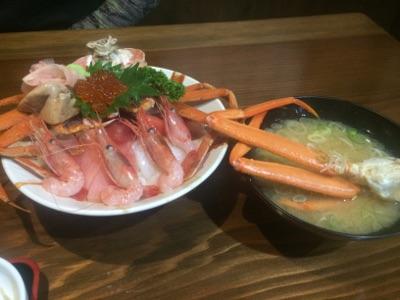 との海鮮丼