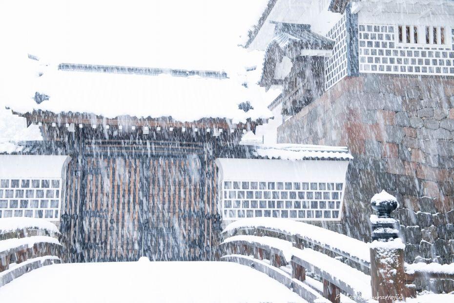 2014.12.06雪の金沢城公園5