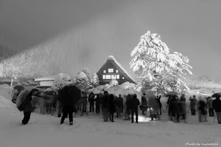 2015.01.31白川郷ライトアップ4
