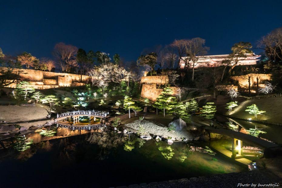 2015.03.28玉泉院丸庭園ライトアップ1
