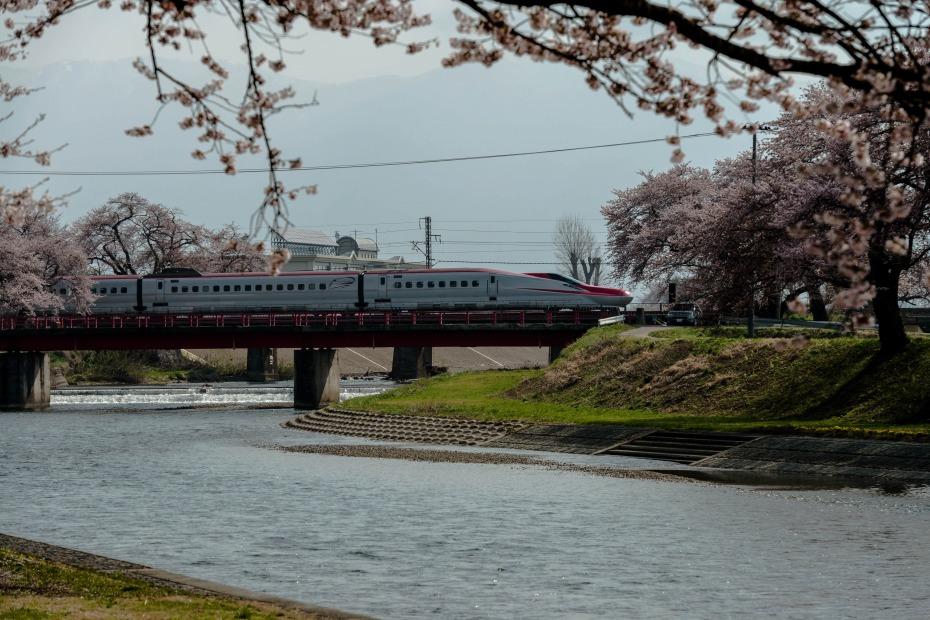 2015.04.19桜と秋田新幹線3