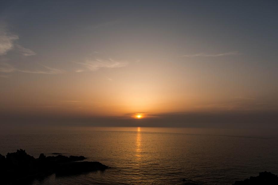2015.04.30十六羅漢岩からの夕陽4