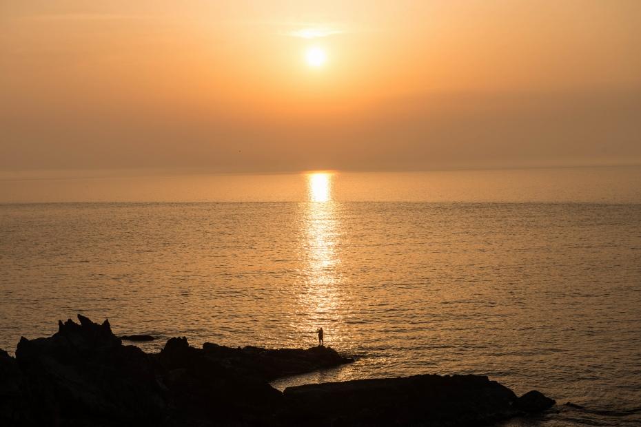 2015.04.30十六羅漢岩からの夕陽2