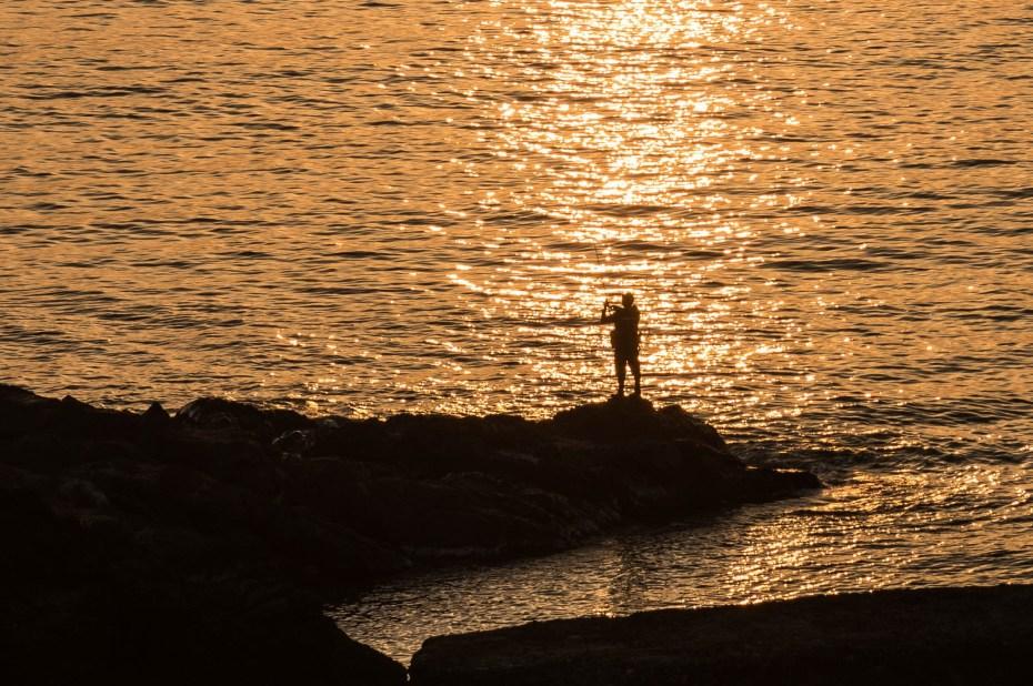 2015.04.30十六羅漢岩からの夕陽1