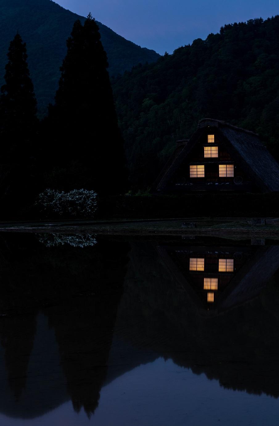 2015.05.24白川郷の夕景7