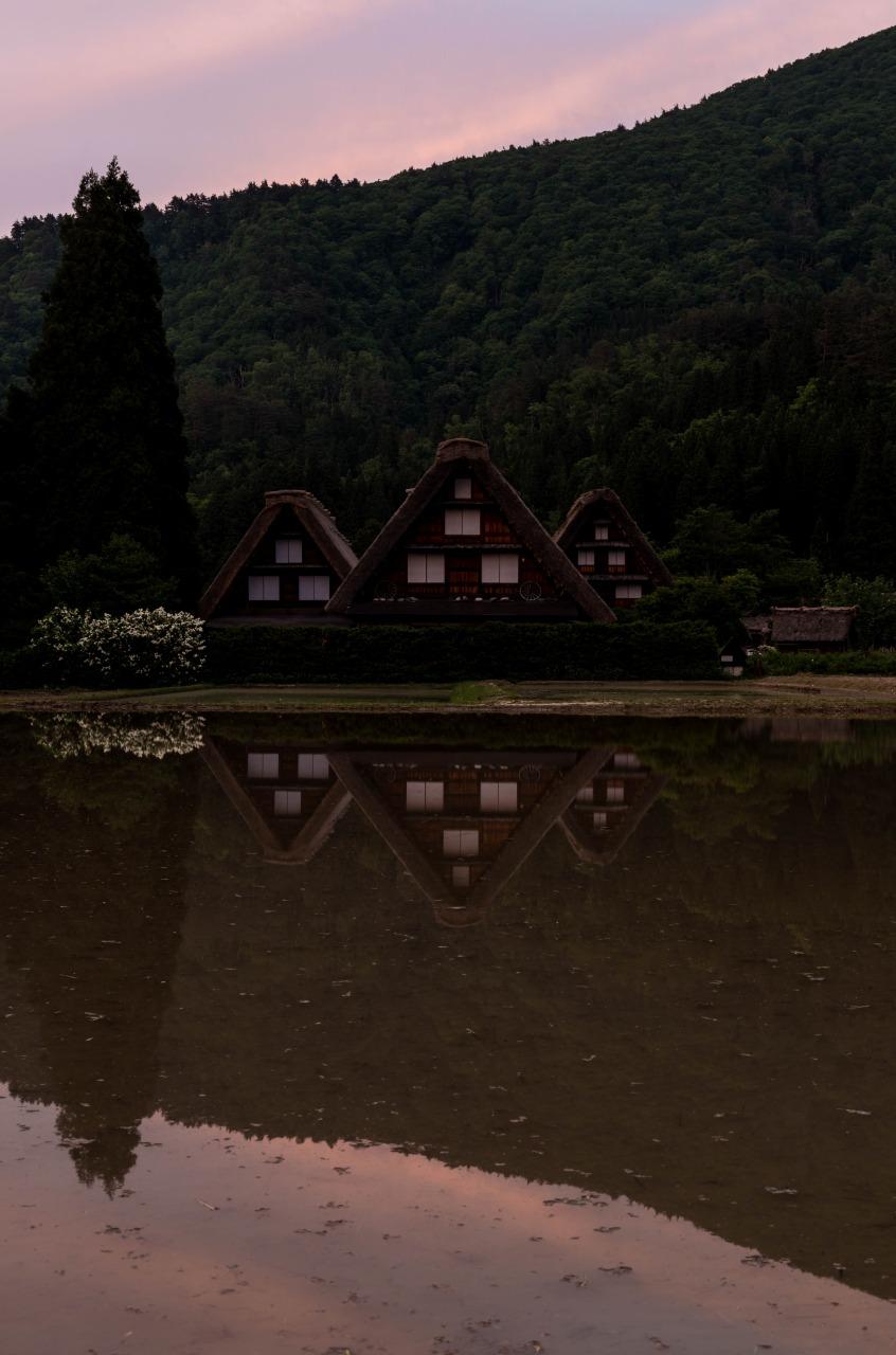 2015.05.24白川郷の夕景5