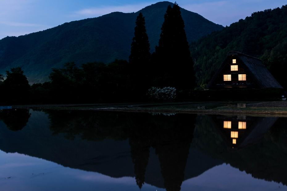 2015.05.24白川郷の夕景1