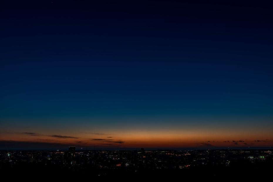 2015.06.04卯辰山から日本海夕陽5.1935