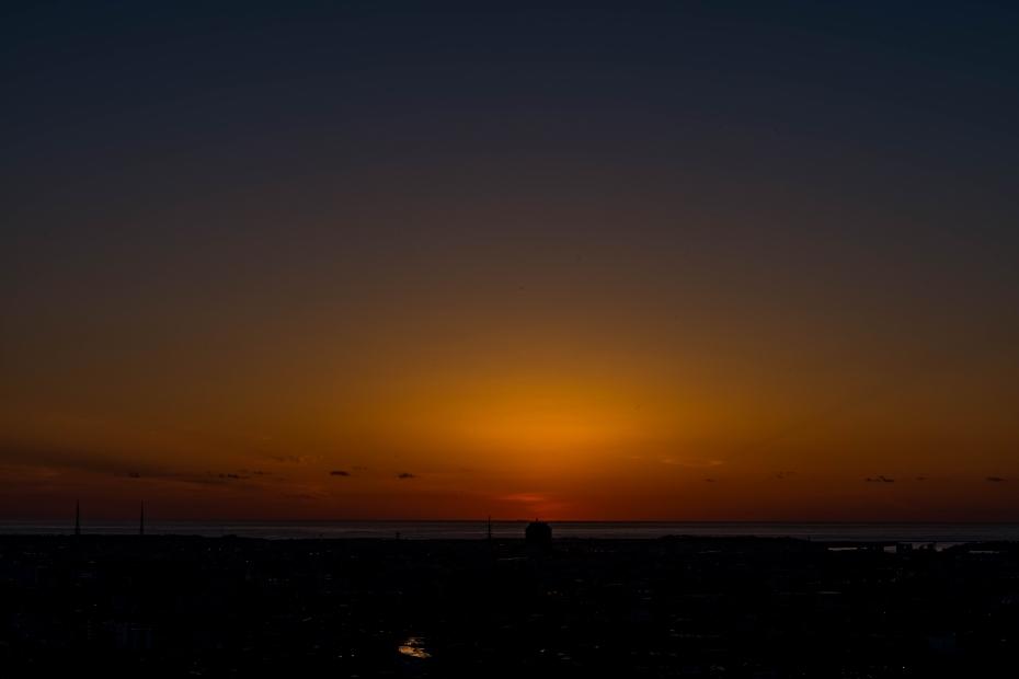 2015.06.04卯辰山から日本海夕陽4.1908