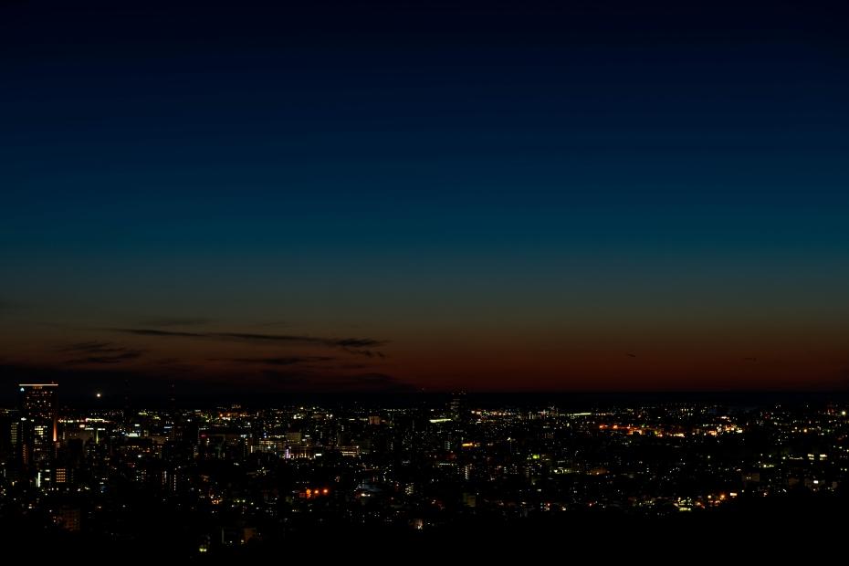 2015.06.04卯辰山から日本海夕陽6.1952