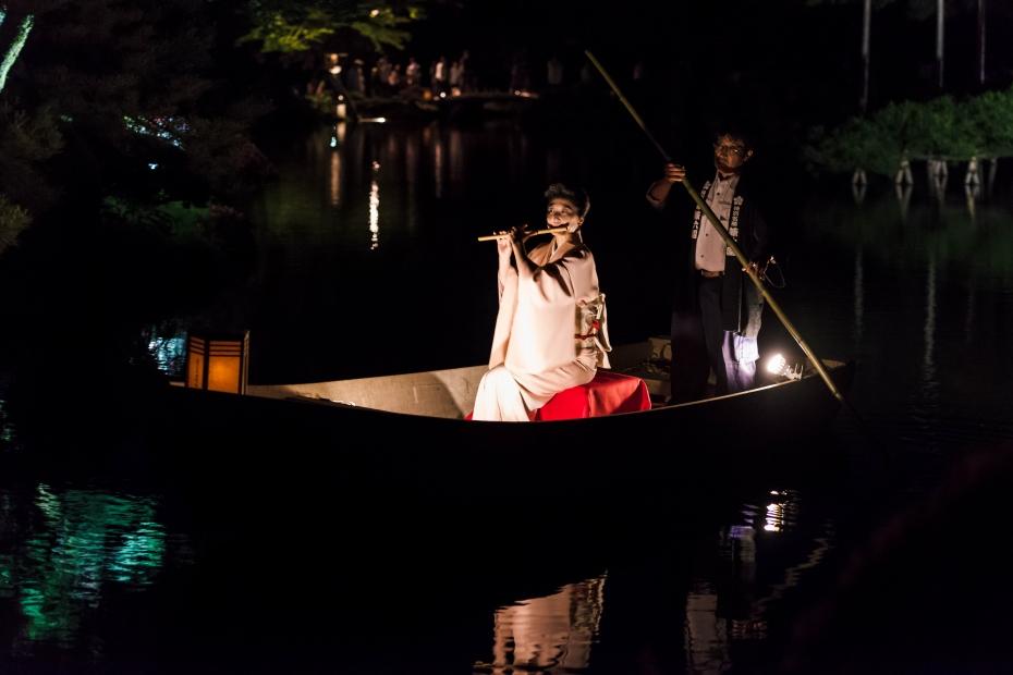 2015.06.06兼六園和舟から演奏4