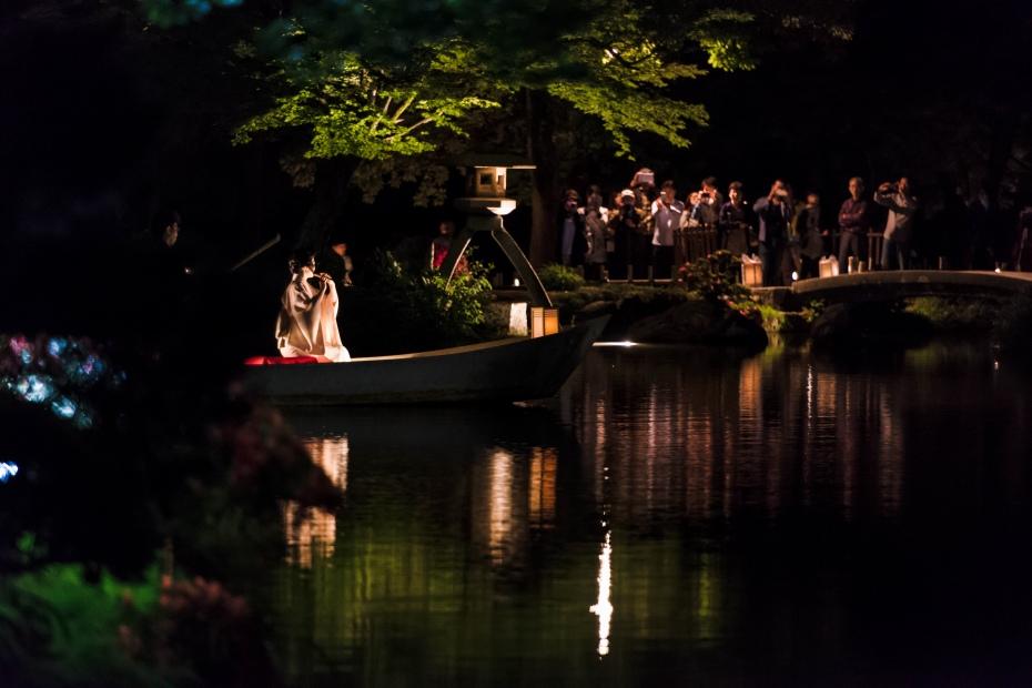2015.06.06兼六園和舟から演奏1