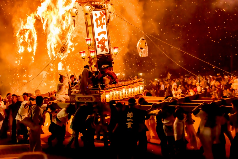 2015.07.03あばれ祭りキリコ乱舞1
