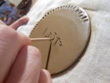 ハートノート -陶器のプレート