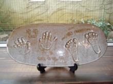 ハートノート -赤ちゃんの手型プレート