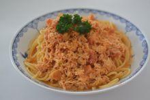 002蟹トマトクリームパスタ