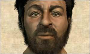 BBCが復元したというイエスの顔...
