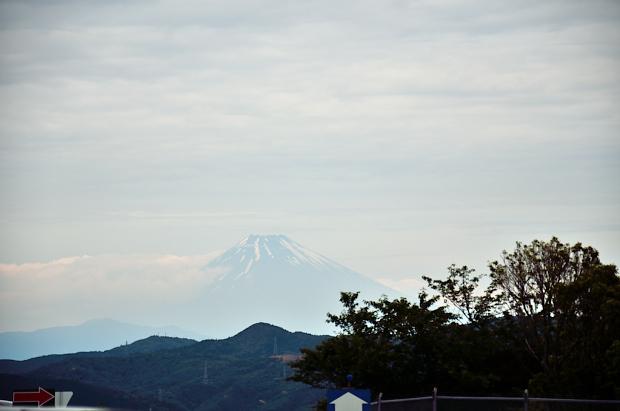 ⑬富士山が見えた