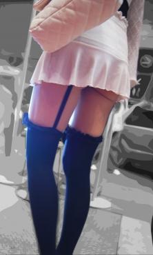 ■ ■ イベント会場のミニスカ下尻丸出しガーターカウガール
