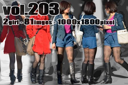 vol203-むっちり美脚の柄物ストッキング