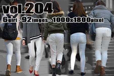 vol204-むち尻ラインを見せつけるタイトなホワイトパンツ