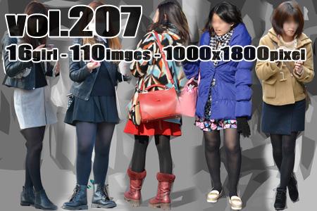 vol207-むっちり美脚の厚手黒タイツ