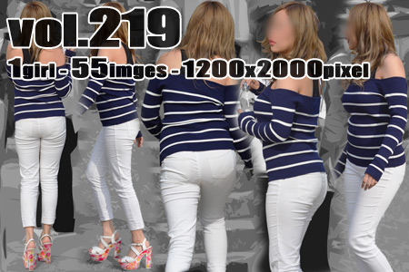 vol219-グラマーギャル娘の豊満美胸とピチパンPラインクロッチ