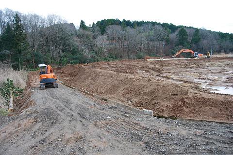 長命湿地南の道路改修