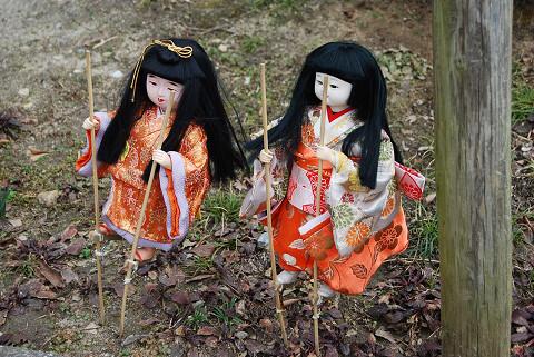 竹馬の市松人形