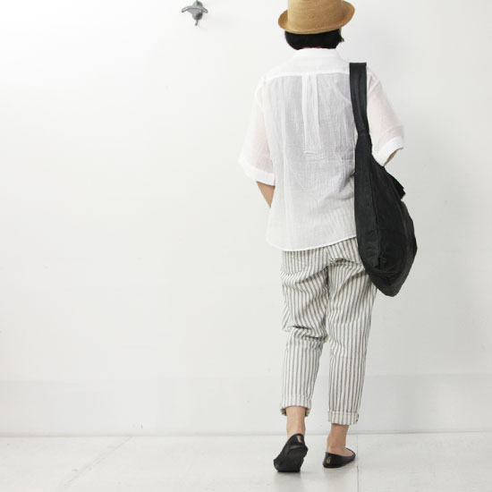 kelen(ケレン) Wide Tapered Trousers Herve Stripe