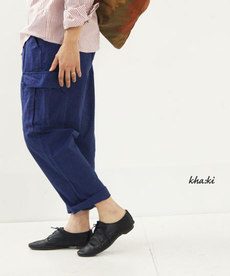 kha:ki (カーキ) MIL LOOSE CARGO PANTS