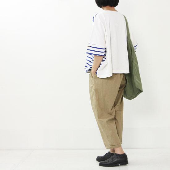 Le minor(ルミノア) ドルマンスリーブボーダーバスクシャツ