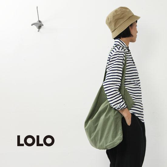 LOLO(ロロ) 定番プルオーバー 抜染ボーダーリネン