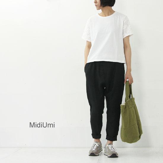 MidiUmi(ミディウミ) レーススリーブプルオーバー