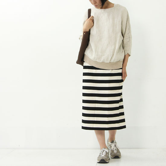 mizuiro ind(ミズイロインド) ボーダータイトスカート