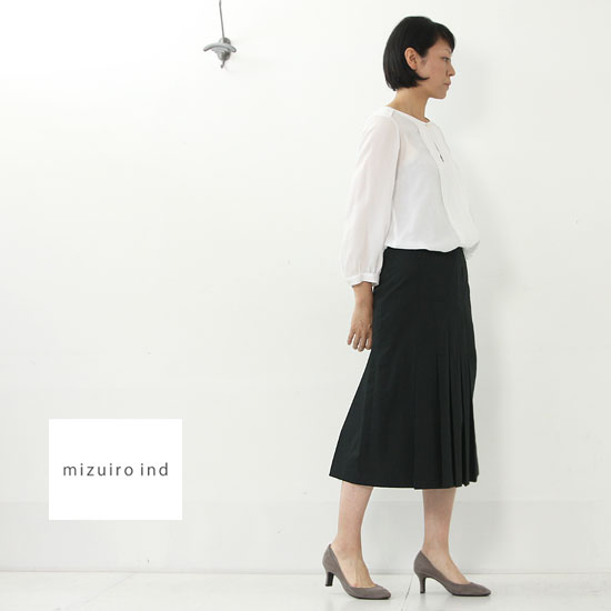mizuiro ind(ミズイロインド) タックスカート