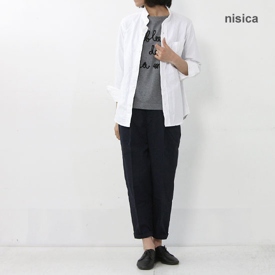 nisica(ニシカ) スモールスタンドシャツ