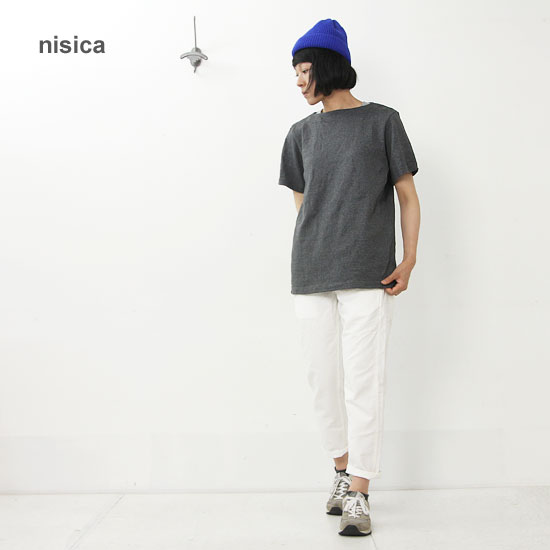 nisica(ニシカ) ボートネックカットソー