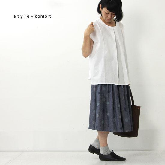 style + confort(スティールエコンフォール) フロントタック切替えプルオーバー