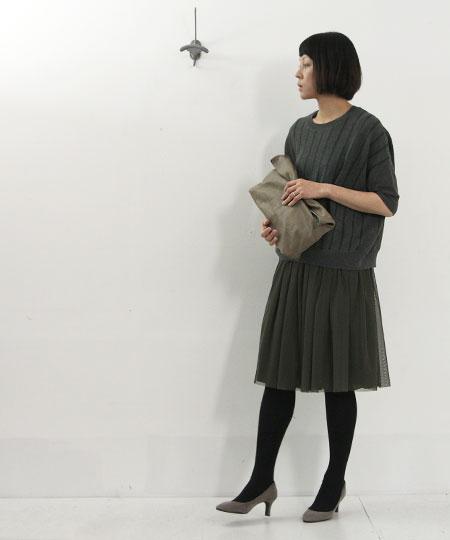 yangany (ヤンガニー) リバーシブルチュールスカート