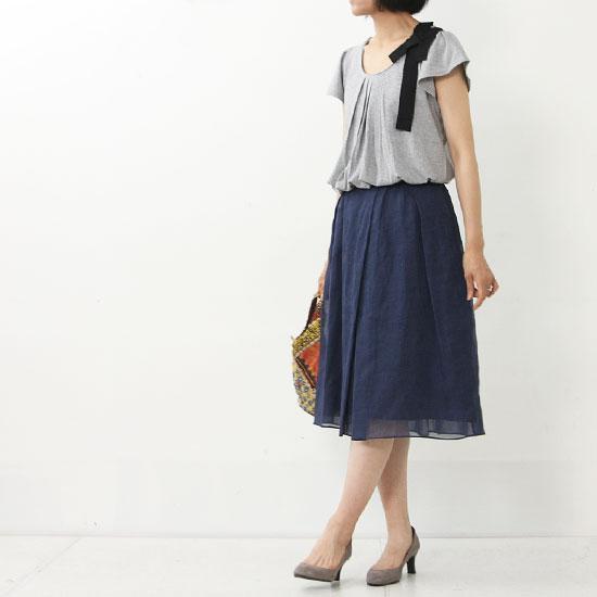 yangany(ヤンガニー) デニムプリントタックスカート