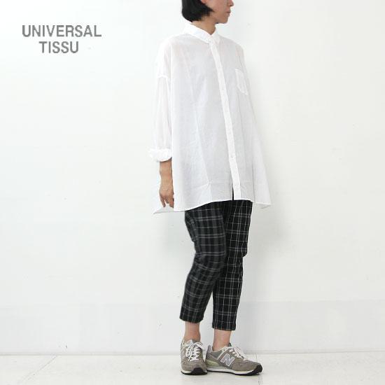 UNIVERSAL TISSU (ユニバーサルティシュ) ボタンダウンワイドシャツ