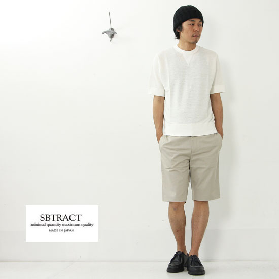 SBTRACT(サブトラクト) LINEN S/S SWEAT