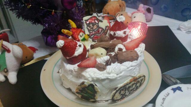 夫婦で家でカピバラケーキ